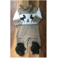 Macacão tricot alce - 0 a 3 meses - Janie and Jack