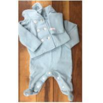 Conjunto macacão e casaco em soft - 0 a 3 meses - Paola BimBi