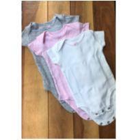 Conjunto 3 bodies algodão pima - 0 a 3 meses - Carter`s