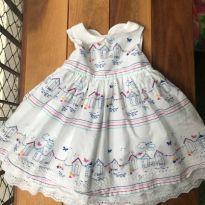 Vestido casinhas - 3 a 6 meses - Baby Club