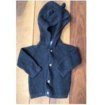Casaquinho tricot preto - 3 a 6 meses - Carter`s