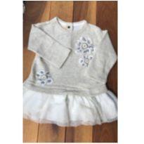 Vestido dourado com saia de tutu - 9 a 12 meses - Chicco