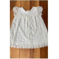 Vestido off white renda - 12 a 18 meses - Zara Baby