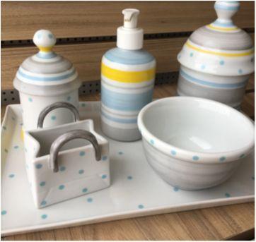 Kit higiene porcelana sweet- Liliane Garmes - Sem faixa etaria - Liliane Garmes