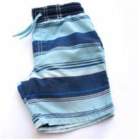 Short Tactel Azul Listras Carter`s 24 meses - Sem Etiqueta - 2 anos - Carters - Sem etiqueta