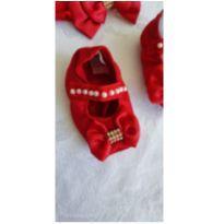 Kit sapato e laço Vermelho