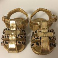 Sandalia rasteira dourada - 16 - Klin