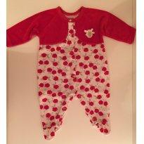 Macacão lindo e estiloso em rosas vermelhas (2 a 3 meses) - 0 a 3 meses - Baby Classic