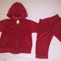 Conjunto de pluch vermelho lindo e quentinho - 6 a 9 meses - GiraBaby