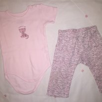 Conjunto body fofo - 9 a 12 meses - Mini & Kids