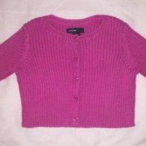 Casaquinho Baby Gap (importada) de linho rosa Pink - 3 a 6 meses - Baby Gap
