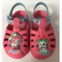 Sandalha Grandene Moranguinho rosa/ azul - 22 - Grendene