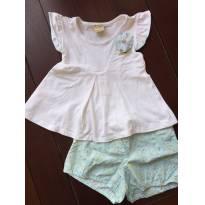 Conjunto de blusinha e short - 3 anos - Milon