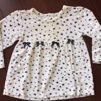 Blusa branca com mini borboletinhas - 2 anos - Baby Classic