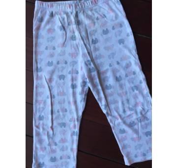 Pijama Branco com Elefantes - 3 anos - Dedeka