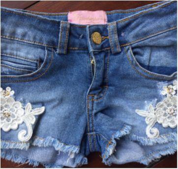 Short Jeans Lindoooo - 24 a 36 meses - Pituchinhus