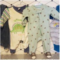 Lote roupas 17 peças menino _ 0 a 4 meses, marcas carters, Lupo, free baby et - 0 a 3 meses - Carter`s e Free Baby