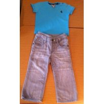 Conjuto Camiseta Ferrari e Calça Baby Gap - 1 ano - Baby Gap