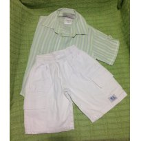 Conjunto Camisa e bermuda cargo - 12 a 18 meses - Tendinha e MS Sport