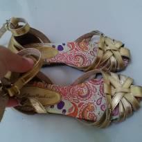 Sandália dourada - 30 - Lilica Ripilica