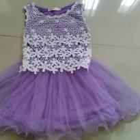 Vestido lilás - 8 anos - Importada