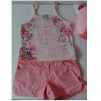 Conjunto rosa - 10 anos - Malwee