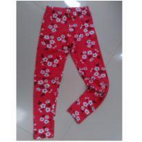 Legging floral vermelha - 10 anos - Malwee
