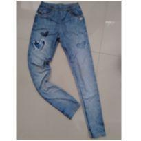 Legging imita jeans - 10 anos - Le Petit Kukiê