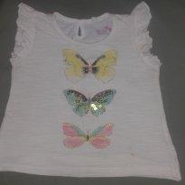 blusinha borboleta - 12 a 18 meses - Baby Club