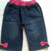 Calça jeans menina - 9 a 12 meses - Não informada