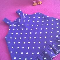 Vestido roxo de bolinha - 3 meses - Não informada