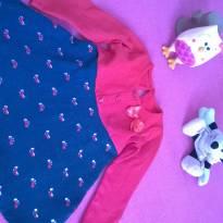 Vestido vermelho e azul com lacinhos fofuxos - 1 ano - Rovitex Kids