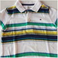 Camiseta Pólo Listras Tommy Hilfiger - 24 a 36 meses - Tommy Hilfiger