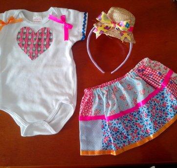 Roupa de Festa Junina para Bebês - 3 a 6 meses - confecção propria