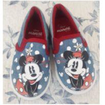 Sapato Minnie azul jeans - 24 - Disney baby