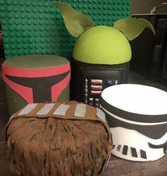 Decor bolo fake conjunto star wars - Sem faixa etaria - Handmade