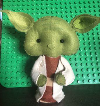 Decor CADA peça Festa boneco tipo Star Wars Feltro - Sem faixa etaria - Handmade