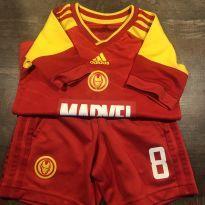 Cjto Esporte Adidas/MARVEL IRON MAN - 6 anos - Adidas