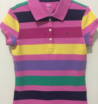 Blusa de Gola Polo - 8 anos - Tommy Hilfiger