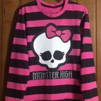 Camisa Listrada - 8 anos - Monster High