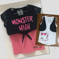 Kit 2 Blusas - 8 anos - Monster High