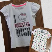 Kit  2 Camisas - 8 anos - Monster High