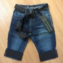 Calça jeans com detalhes em poá Puramania - 9 a 12 meses - Puramania