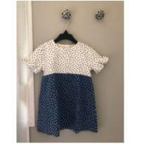 Vestido branco e azul com bolinhas Zara - 18 a 24 meses - Zara Baby e Zara