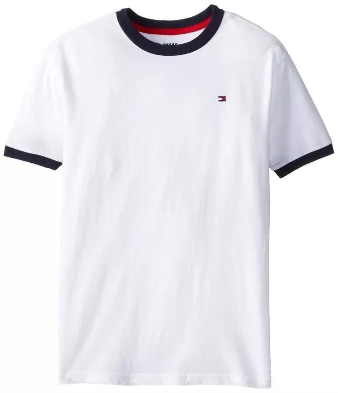 0a3bc049a86ec8 Camiseta Branca Tommy Hilfiger Tamanho 4 Anos 4 anos no Ficou ...