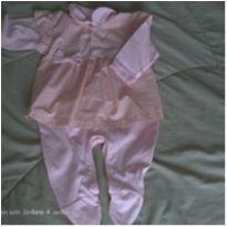 MACACÃO ROSA BABY - 6 a 9 meses - Sininho Baby