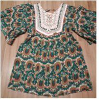 Vestido de pavão - 5 anos - Camú Camú