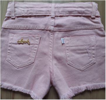 Shorts jeans rosa - 5 anos - Look jeans