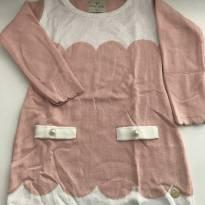 Vestido de tricô rosa - 12 a 18 meses - Mini & Kids