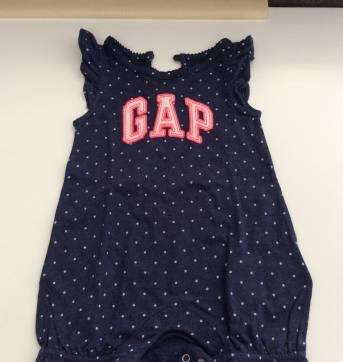 Macacão curto Gap - 0 a 3 meses - Baby Gap